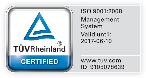 Certification ISO 9001:2008